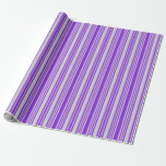 [ Thumbnail: Purple & Light Gray Colored Pattern Wrapping Paper ]