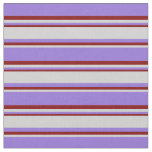 [ Thumbnail: Purple, Light Grey, and Maroon Colored Lines Fabric ]