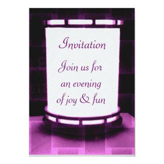 Purple, light of art,Invitation Card