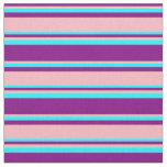 [ Thumbnail: Purple, Light Pink, and Cyan Colored Pattern Fabric ]