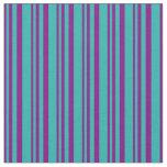 [ Thumbnail: Purple & Light Sea Green Pattern Fabric ]