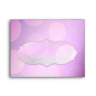 Purple light spots RSVP and note cards envelopes