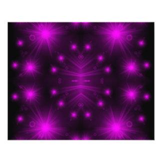 purple light stars flyer
