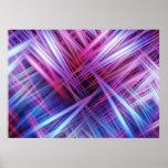 Purple light trails pattern poster