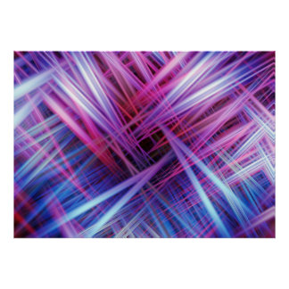 Purple light trails pattern poster