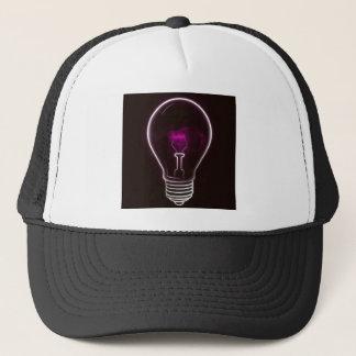 Purple light trucker hat