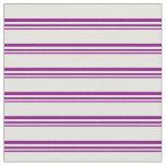 [ Thumbnail: Purple & Light Yellow Lined/Striped Pattern Fabric ]