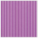 [ Thumbnail: Purple & Light Yellow Lines Fabric ]