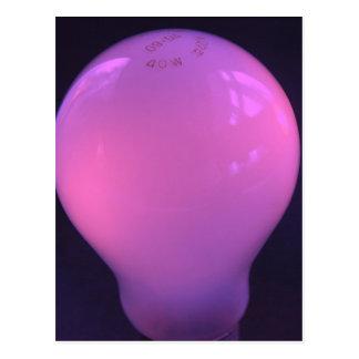 Purple lightbulb postcard