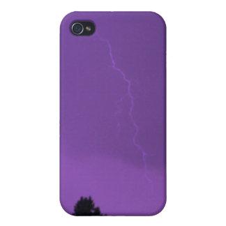 Purple Lightning 3 4/4s iPhone 4 Covers