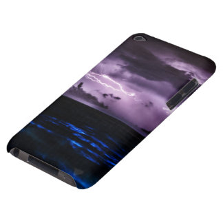Purple Lightning at Night Barely There iPod Cover