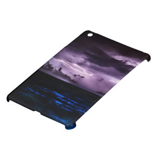 Purple Lightning at Night Case For The iPad Mini