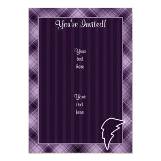 Purple Lightning Bolt 5x7 Paper Invitation Card