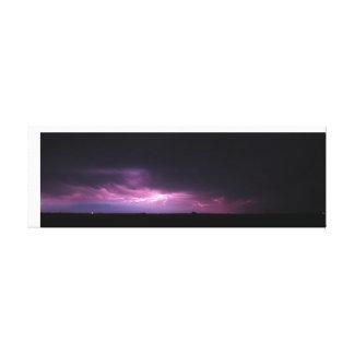Purple Lightning Canvas Print