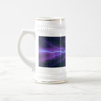 Purple Lightning Electricity Backdrop Beer Stein
