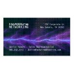 Purple Lightning Electricity Backdrop Business Card Template