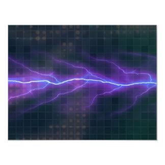 Purple Lightning Electricity Backdrop Card