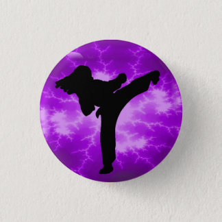 Purple Lightning Lady Button