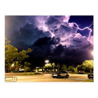 Purple Lightning Postcard