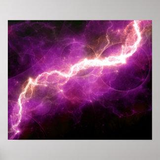 Purple lightning poster