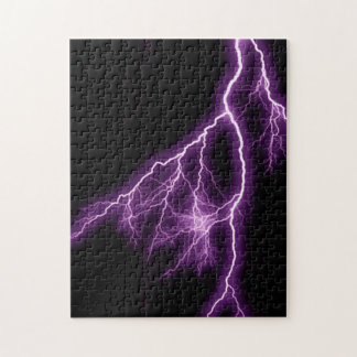 Purple Lightning Jigsaw Puzzles