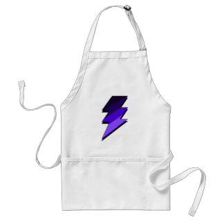 Purple Lightning Thunder Bolt Adult Apron
