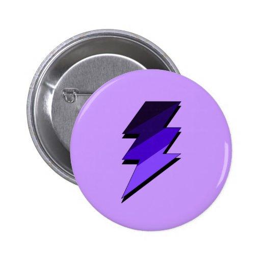 Purple Lightning Thunder Bolt Pins