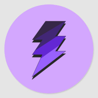 Purple Lightning Thunder Bolt Sticker