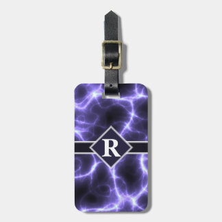 Purple Lightning with Monogram Bag Tag
