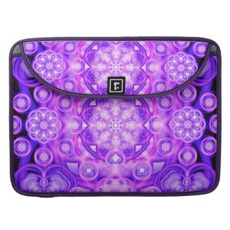 Purple Lights Mandala Sleeve For MacBook Pro