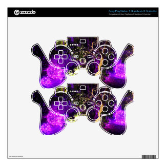 Purple Lights PS3 Controller Decal