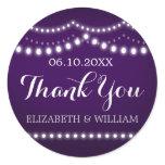 Purple & Lights Wedding Thank You Sticker | Bridal