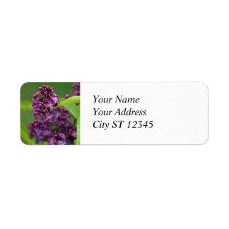 Purple Lilac Address Label
