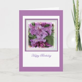 Purple Lilac Birthday Card