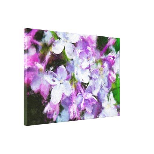 Purple Lilac Blossoms Floral Art Canvas Canvas Print