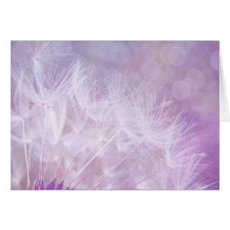 Purple Lilac Dandelion Bohek Note Card