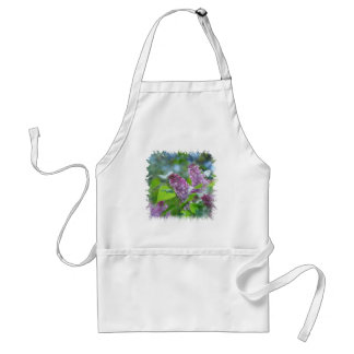 Purple Lilac Flowers Apron