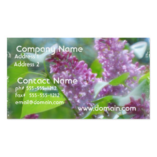 Purple Lilac Flowers Business Card
