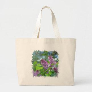 Purple Lilac Flowers Canvas Bag