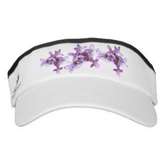 Purple Lilac Flowers Headsweats Visors Headsweats Visor