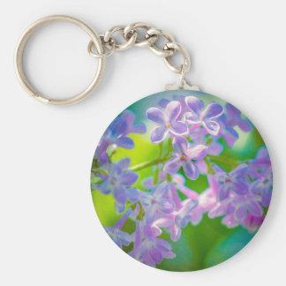 Purple Lilac Flowers Keychain