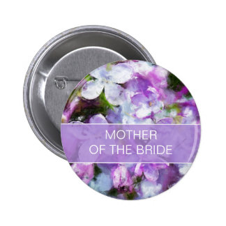 Purple Lilac Flowers Mother of the Bride Pin