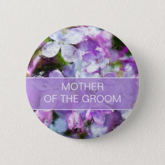 Purple Lilac Flowers Mother of the Groom Pin