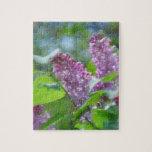 Purple Lilac Flowers Puzzle