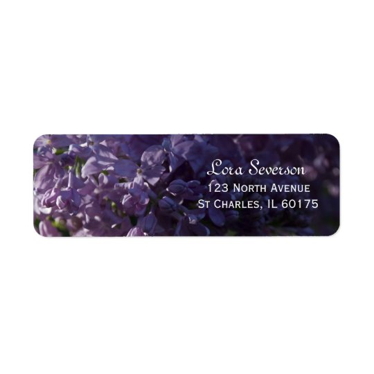 Purple Lilac Flowers Return Address Label