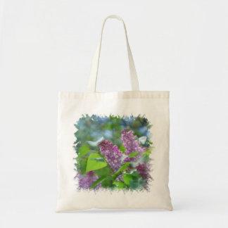 Purple Lilac Flowers Small Bag