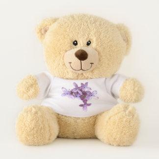 Purple Lilac Flowers Teddy Bear
