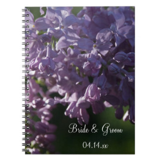 Purple Lilac Flowers Wedding Notebook