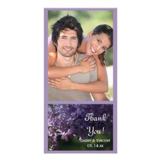 Purple Lilac Flowers Wedding Thank You Card
