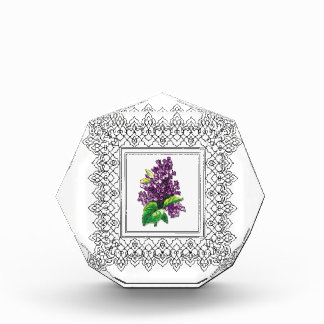 purple lilac frame acrylic award
